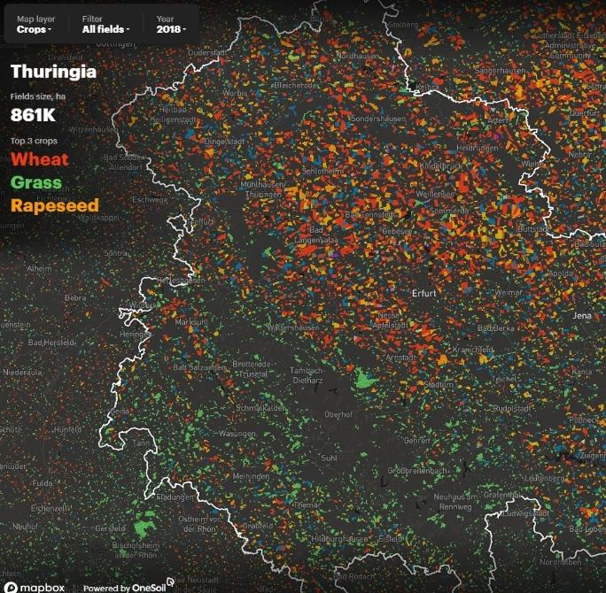 Точное земледелие: белорусские разработчики нанесли на карту все поля в Европе и США